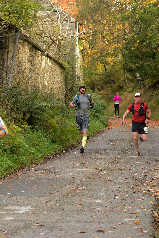 Runners at Forest and Moors trail marathon at Dalby