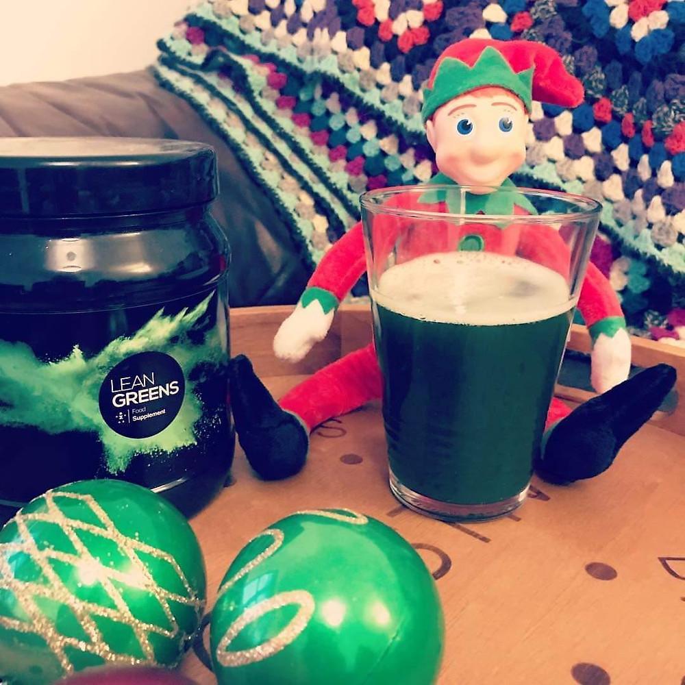 Lean Greens health drink at Christmas