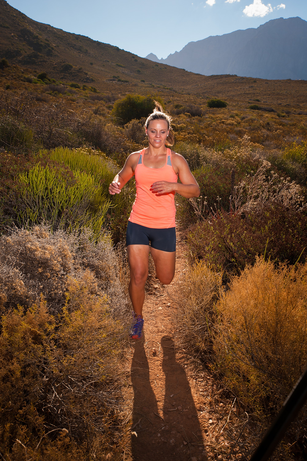 Female trail runner
