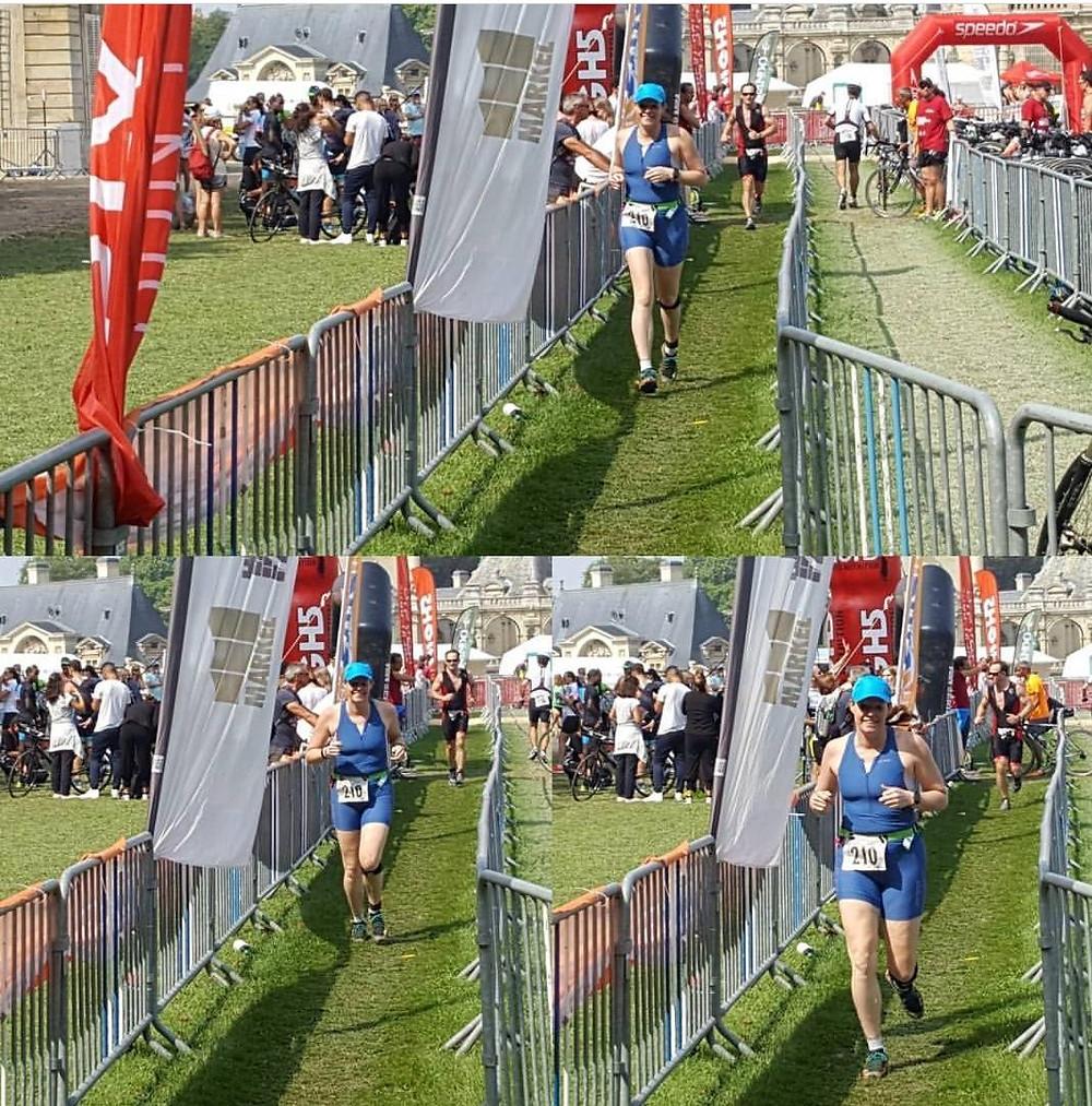 Chateau de Chantilly Gauntlet triathlon tranisition to the run leg