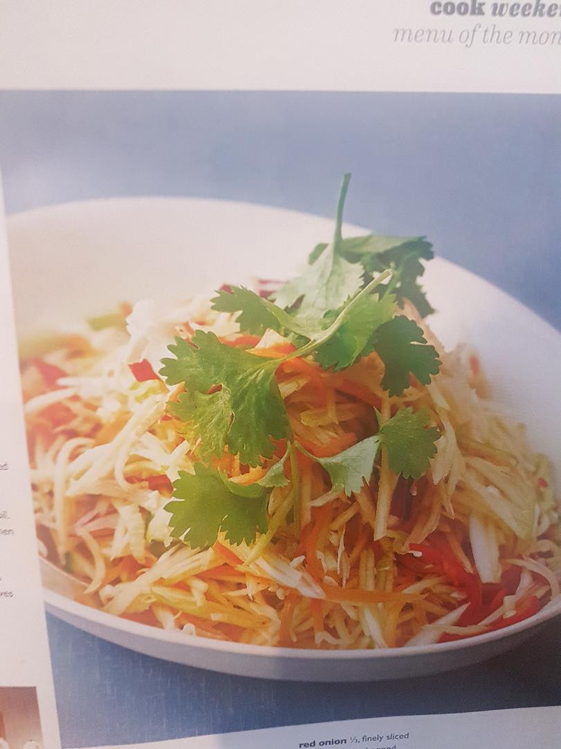 Thai themed salad with a good variety of vegetables