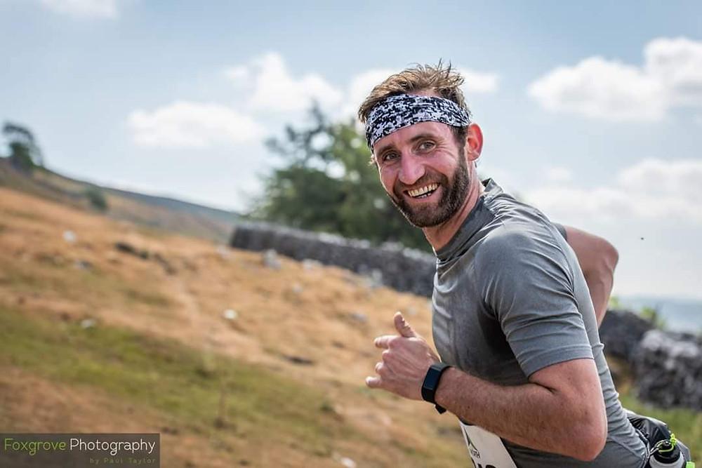 Runner at the Due North Skirfare Half Marathon by Foxgrove Photography