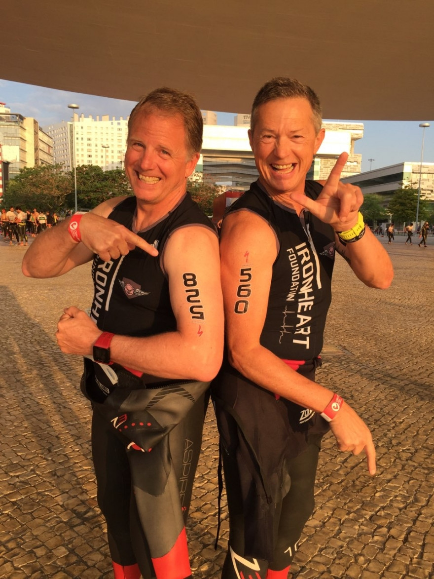 Brothers ready for Middle Distance Triathlon Challenge Lisboa