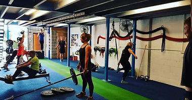 Group strength workout at JDW Fitness, Thirsk