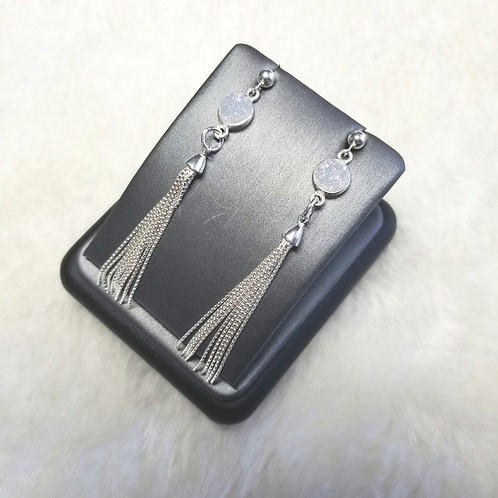 SS Druzy Tassel Earrings