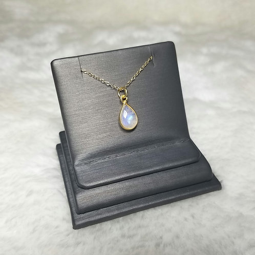 14k Gold Filled Moonstone Layering Pendant