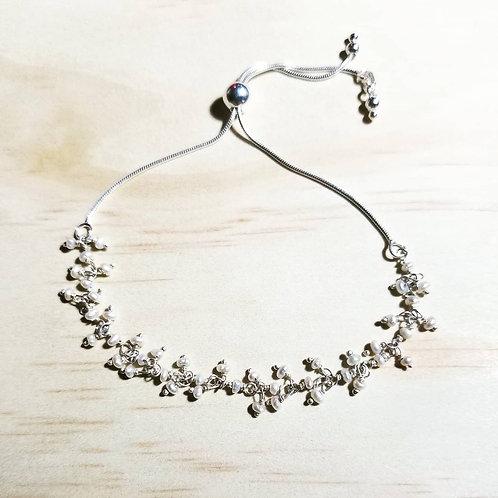 Freshwater Pearl adjustable Bracelet in Sterling Silver