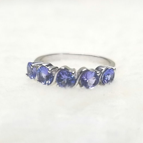 Sterling Silver Tanzanite Stackable Ring/Band.