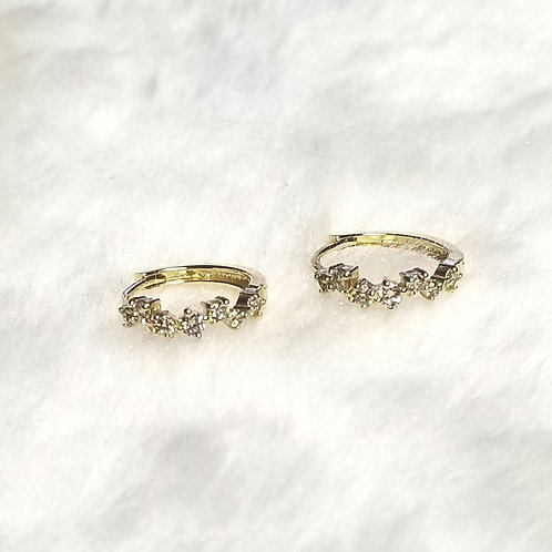 Solid 14k Gold Diamond Hoop Earrings 1/2ct. t.w