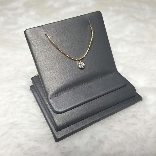 Minimalistic 14k Gold Filled CZ Pendant