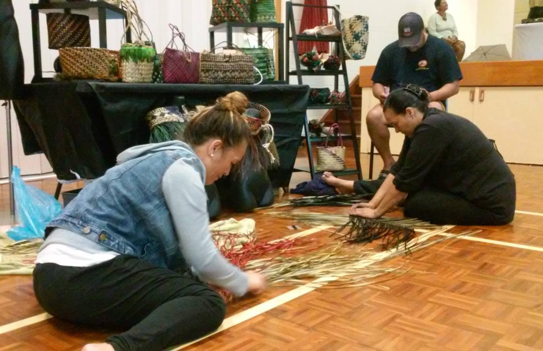 Kelly & Roimata weaving.jpg