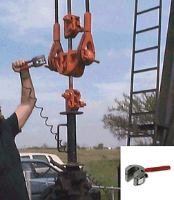 Echometer Horseshoe Dynamometer being Installed on a Rod Pumping Well