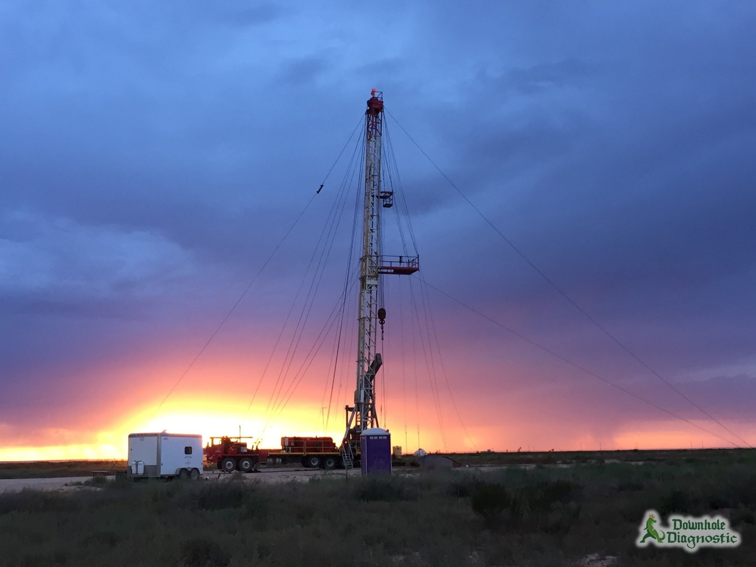 Sunset on Pecos Pulling Unit
