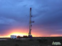 Sunset on Pecos Pulling Unit