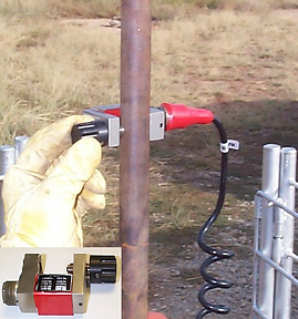 Echometer PRT Dynamometer Clamped onto the Polish Rod