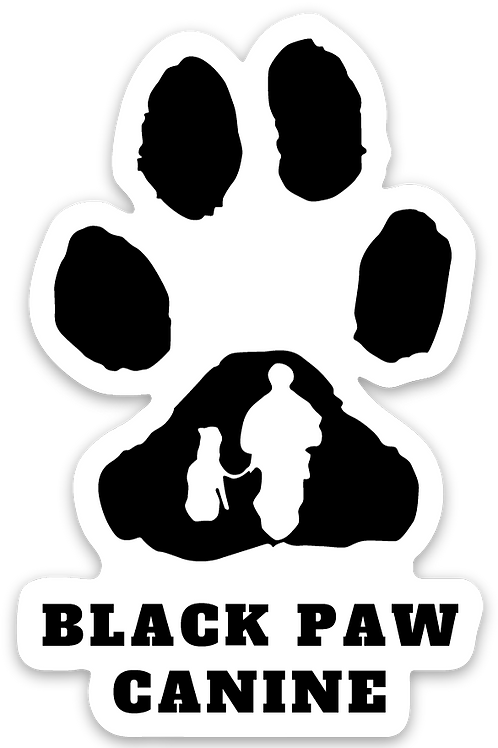 Black Paw Canine Sticker