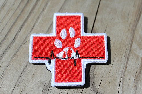 Black Paw Canine First Aid Patch