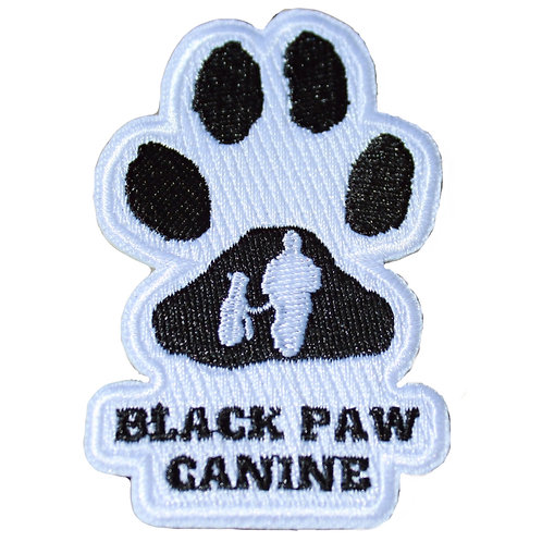 Black Paw Canine Patch