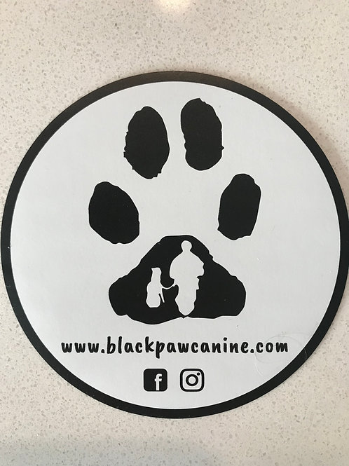 Black Paw Canine Magnet