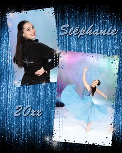 Blue Sparkle Montage 8x10