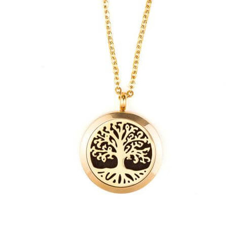 Aromatherapy Diffuser Locket - Tree of Life