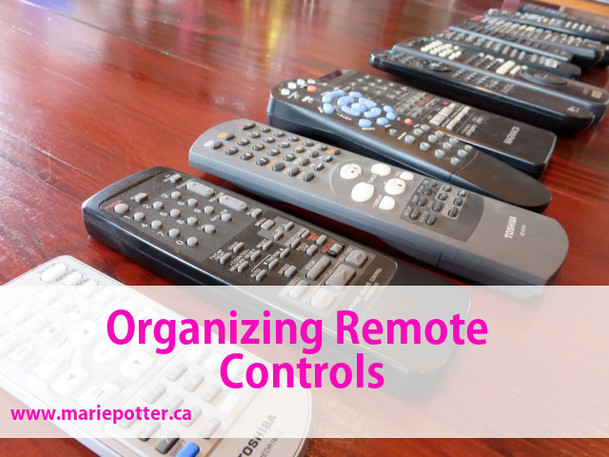 Organizing Remote Controls