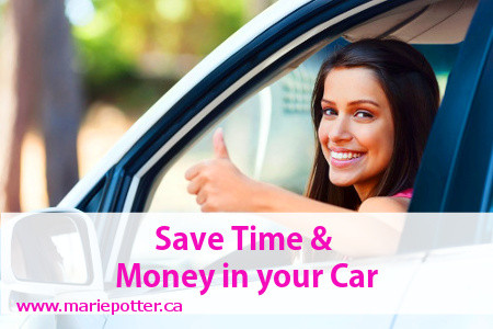 Save time and money in your car