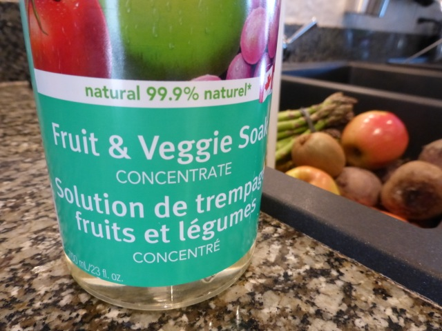 Add fruit & veggie soak concentrate