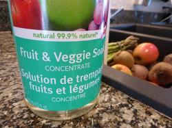 Add fruit & veggie soak concentrate