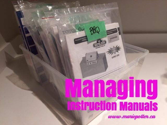 Manual Organizing