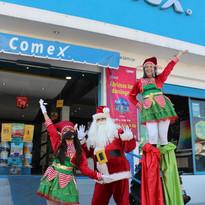 Santa Claus, Duendes y Zanqueros Navideños