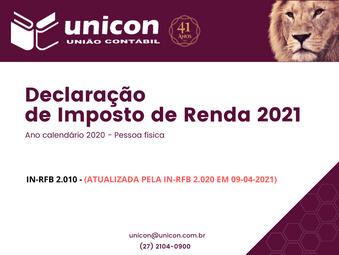 [ATUALIZAÇÃO] - Circular - Declaração de Imposto de Renda 2021