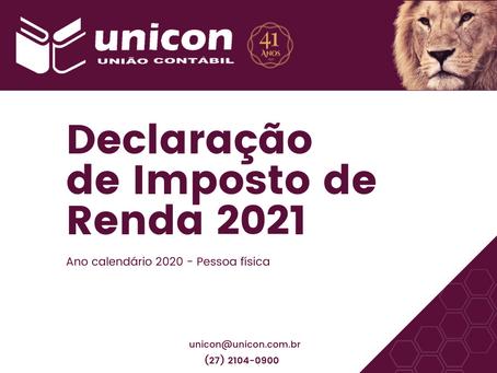 Circular - Declaração de Imposto de Renda 2021