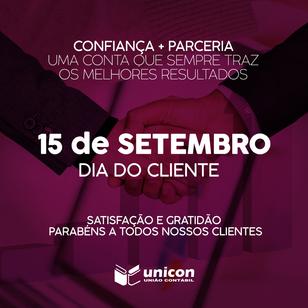 15 DE SETEMBRO - DIA DO CLIENTE