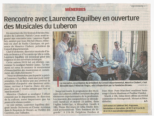 Table ronde Laurence Equilbey - La Prove