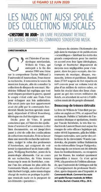 Article sur Commando Musik - Le Figaro 1