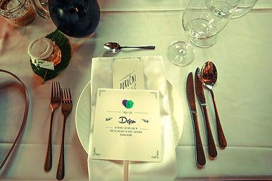 diy wedding hand fun menu