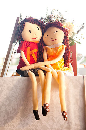 diy bride and groom dolls