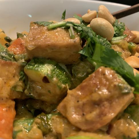 Nutty Rainbow Curry