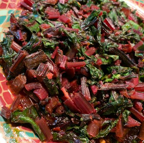 Moroccan-Spiced Beet & Greens Salad