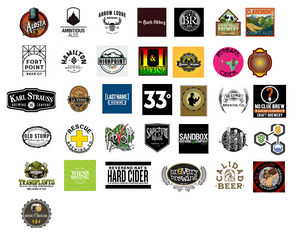 Craft brewery logos