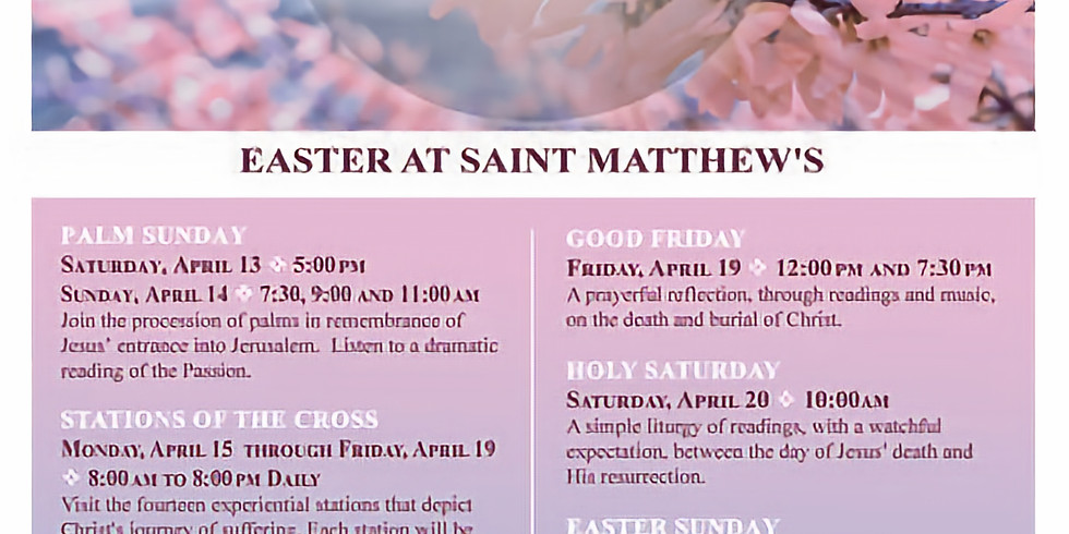 Easter at St. Matthew's