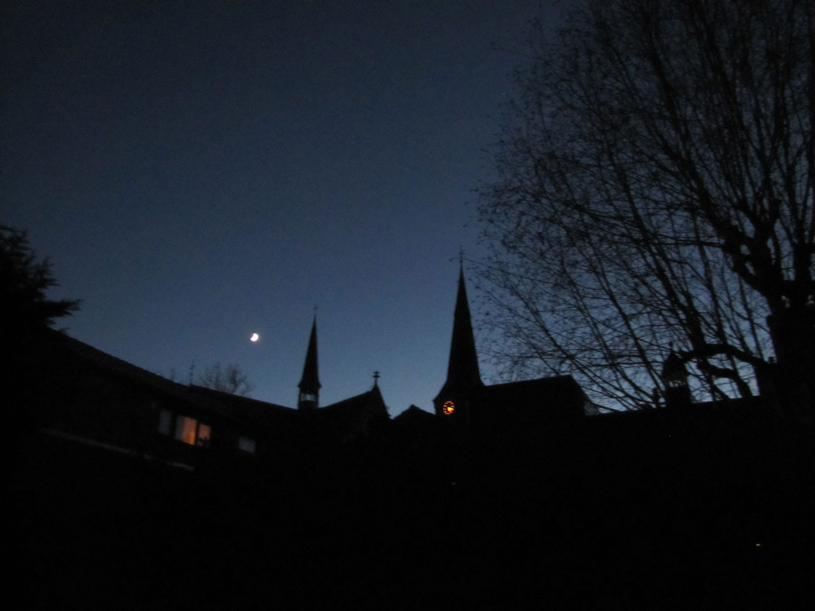 Heldere winternacht