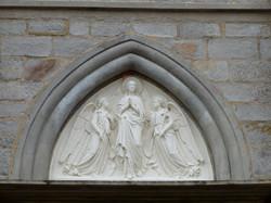 Fronton de l'église