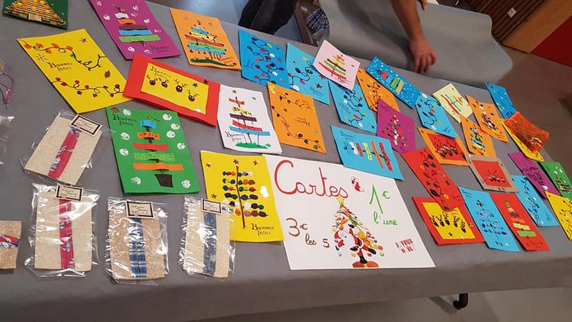 De belles cartes de voeux réalisées par l'école