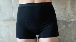SUPER HEAVY DAYS High Waist Black Period Shorts