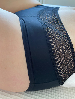 LIGHT DAYS Classic Fit Black Lace Top Period Pants