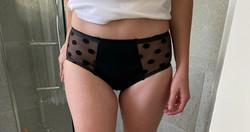 LIGHT DAYS Spotty Mesh Mid Rise Period Pants