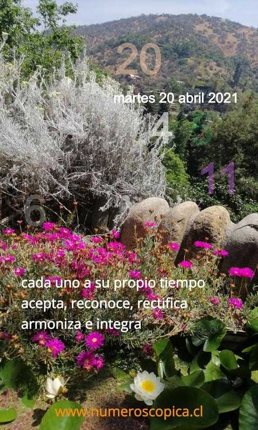 martes 20 abril
