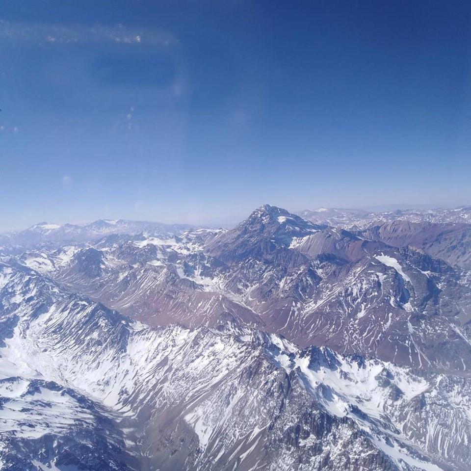 vista del Cerro Aconcagua, cumbre de la Cordillera de los Andes